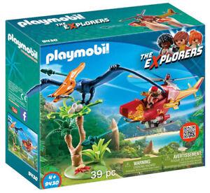 Playmobil Hélicoptère Et Ptérodactyle 9430 Playmobil