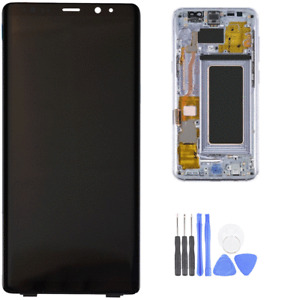 LCD Display Screen AMOLED for Samsung Galaxy Note 8 with Orchid Gray Frame