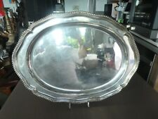 VERY LARGE PORTUGUESE OR BRAZILIAN  .833 SILVER ALLOY TRAY