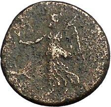 MACEDONIA Koinon Thessalonica 54AD Nero Titus Time Nike Shield Greek Coin i52754