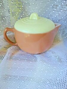 Moderntone Little Hostess Beige Teapot with Yellow Lid RARE COLOR Child's