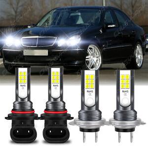 For Jaguar S-Type 2005 2006 2007 2008 6X LED Headlight Bulbs Kit High Low Beam