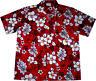 Camicia Hawaiana / 100% cotone / S-8XL / Hawaiiana Hawaii Hawai uomo fiori rosso