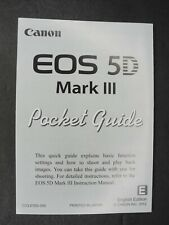 Canon EOS 5D Mark III Pocket Guide Brief Fold Out Manual In English
