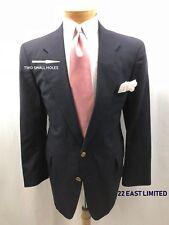 22 EAST LIMITED Men's Sport Coat 44S 2 Button Wool Navy Jacket Blazer @