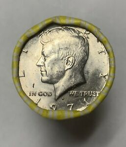 One Unsearched Roll Of Kennedy Half Dollar Coins
