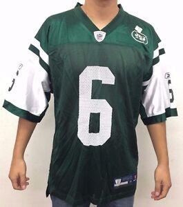 New York Jets Sanchez #6 NFL Men's Medium Reebok On Field Jersey Green Shirt XL