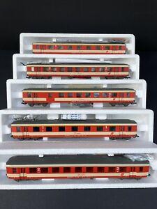 Roco OBB set of 5 Coaches with Interior lights comp/ Fleischmann Trix Liliput