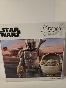 Buffalo Games 03350 Star Wars DISNEY Jigsaw Puzzle 500 Piece Madalorian COMPLETE