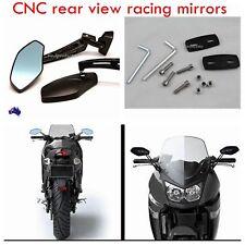 Black CNC Billet Rear View Side Mirrors GSXR 600 750 Hayabusa CBR600 1000RR F4i