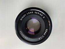Nikon 50mm 1.8 Series E Vintage Lens + Canon EF Adapter