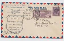 Aviation Autographs: Jimmy Wedell, on 1932 Bendix Race cover,  scarce