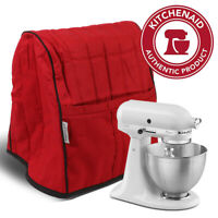 KitchenAid Brand Stand Mixer Cover Quilted Organizer Bag Mat Case Pockets Red