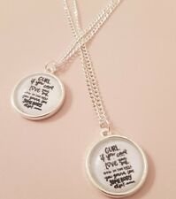 Love Somebody Ru Paul Quote Gift Text Drag Race Queen Silver Plated Necklace