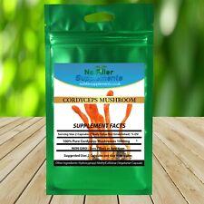 100% Pure Cordyceps Mushroom Vegetable Capsules Polysaccharides