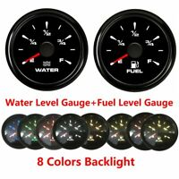 52mm Water Level Fuel Level Meter Gauge for Truck Boat Marine 0-190ohm 240-30ohm