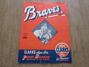 RARE 1953 Milwaukee Braves vs Boston Red Sox Spring Training Program