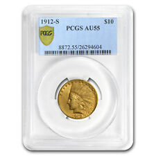1912-S $10 Indian Gold Eagle AU-55 PCGS - SKU #80124
