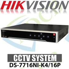 Hikvision Ds-7716Ni-K4/16P 16 Channel Network Video Recorder Cctv 4K Hd 8Mp Anpr