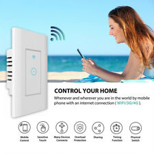 Smart LED Light WiFi Wall Touch Switch For Alexa Google IFTTT Home App Timing