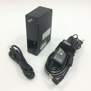 Lenovo Thinkpad Basic USB 3.0 Dock DL3700-ESS 03X6285 w/ AC Adapter