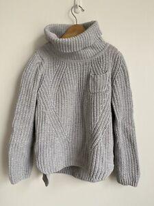 Seed Kids Girls Grey Turtleneck Knit Sweater Long Sleeves Top Size 6-7