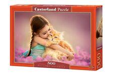 Castorland B-52370 Puzzle Pillowy Softness Mädchen Katze Natur 500 Teile