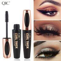 QIC mascara 4D waterproof long lasting thick curling black 11ml makeup beauty
