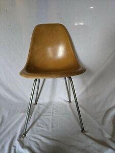 Vintage Herman Miller Dark Brown Fiberglass Side Chair