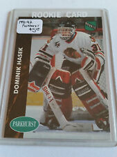 1991-92 Parkhurst #263 Dominik Hasek RC : Chicago Blackhawks