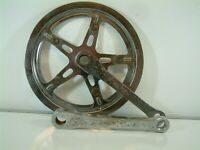 Vintage - Chromed Cottered Chainset 46 Teeth 150 mm  Crankarms
