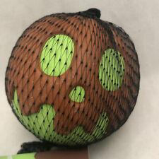 Bark Box Halloween Scaramel Grapple Squeak Chew Dog Toy Small Ball Super Chewer