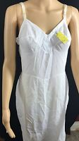 Vintage Warner's Compli-Fit Ivory White Nylon Slip Dress Lingerie sz 36 A