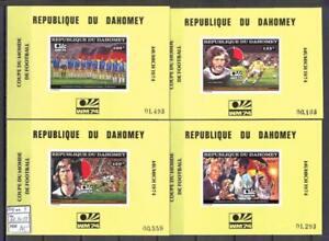 Soccer 1974 A24 Dahomey block4 Word Cup Munich CV 80 eur Sport