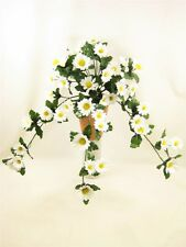 60cm Potted Artificial White Daisy trailing plant ~ artificial flowers