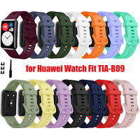 Für Huawei Watch Fit TIA-B09 Silicone Watch Armband Wristwatch Strap Bracelet
