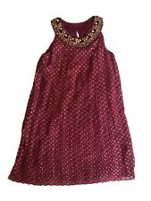 NWOT Girls Burgundy Party Dress Blush By Us Angels 14