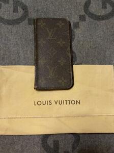 100% Authentic Louis Vuitton Monogram iPhone X Folio Case Lv logo