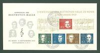 Large format K15 Germany Bund 1959 FDC s/s Music Composers L v Beethoven CV 140