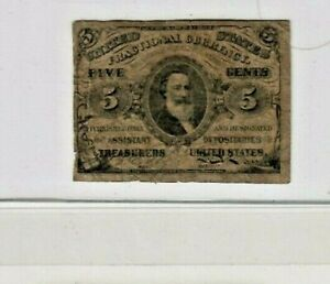 "5 CENT ""FRACTIONAL"" (GREENBACK) 1800'S ""HARRISON"" 5 CENT ""FRACTIONAL""  NICE!!!"