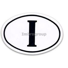 Adesivo targa Italia ovale bianco e nero Adesivo I retro auto camper 7x9cm GAT