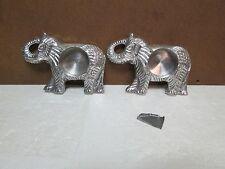 aluminum elephant candle holders