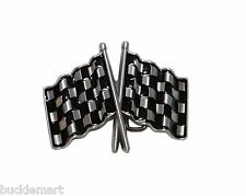 Car Racing Crossed Checkered Flags Belt Buckle Hot Rod Street Racing