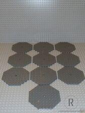 LEGO ® 10 PIASTRE ottagono 10x10 Nuovo Grigio Scuro Grigio Nuovo 89523 per Castle Castello