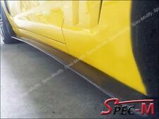 2005-2013 Chevy Corvette C6 Z06 ZR1 Carbon Fiber Side Skirts Lip + Mud Flaps CF
