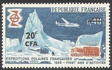Reunion 1968 Antarctic/Transport/Planes/Polar Exploration/Tractor 1v (n33751)