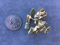 DISNEY STORE DOPEY FROM SNOW WHITE GOLD TONE PIN, BROOCH, RARE, VINTAGE!