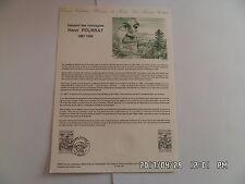 TIMBRE PLANCHE PREMIER JOUR HENRI POURRAT 1887-1959   A 1 87 119          G26