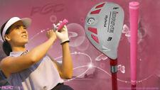 """Senior Ladies iDrive Pink Golf Club Hybrid #3 Rescue Utility """"Senior"""" Flex Club"""