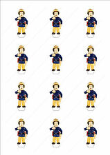 Novelty Fireman Sam Stand Up Fairy Cake Cupcake Toppers Edible Birthday Cartoon